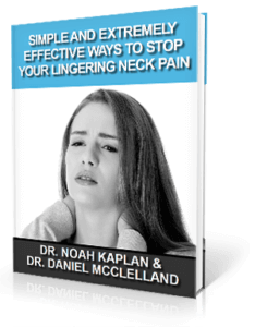 Free Neck Pain Relief eBook from Advance Upper Cervical Chiropractic